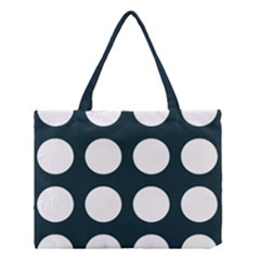 Big Dot Teal Blue Medium Tote Bag