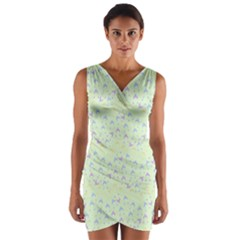 Minty Hats Wrap Front Bodycon Dress