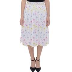 Pastel Hats Folding Skater Skirt