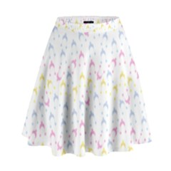 Pastel Hats High Waist Skirt