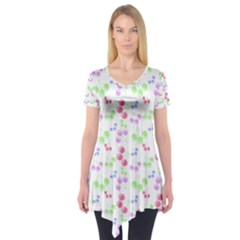 Candy Cherries Short Sleeve Tunic