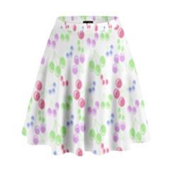 Candy Cherries High Waist Skirt