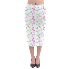 Candy Cherries Midi Pencil Skirt