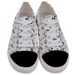 Green Cherries Women s Low Top Canvas Sneakers