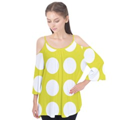 Big Dot Yellow Flutter Tees