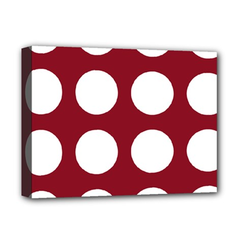 Big Dot Red Deluxe Canvas 16  X 12