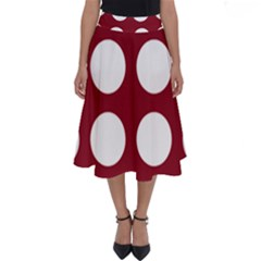 Big Dot Red Perfect Length Midi Skirt