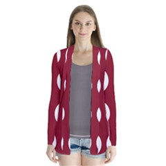 Big Dot Red Drape Collar Cardigan