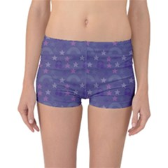 Music Stars Blue Reversible Boyleg Bikini Bottoms