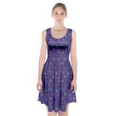 Music Stars Blue Racerback Midi Dress