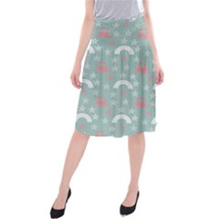 Music Stars Sky Blue Midi Beach Skirt