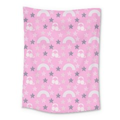 Music Star Pink Medium Tapestry