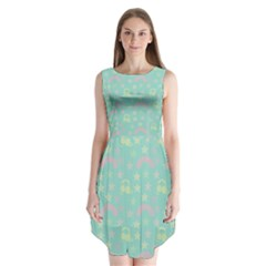 Music Stars Seafoam Sleeveless Chiffon Dress