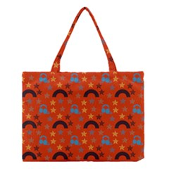 Music Stars Red Medium Tote Bag