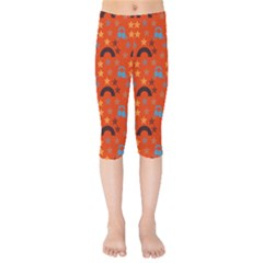 Music Stars Red Kids  Capri Leggings