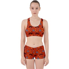 Music Stars Red Work It Out Sports Bra Set