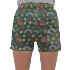 Music Stars Grass Green Sleepwear Shorts