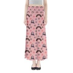 Music Stars Peach Full Length Maxi Skirt
