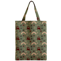 Music Stars Green Zipper Classic Tote Bag