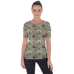 Music Stars Green Short Sleeve Top