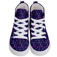 Music Stars Navy Kid s Hi Top Skate Sneakers