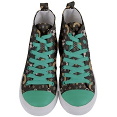 Music Stars Grey Women s Mid Top Canvas Sneakers