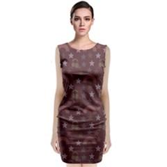 Music Stars Brown Classic Sleeveless Midi Dress
