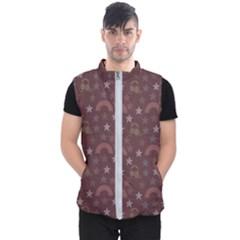 Music Stars Brown Men s Puffer Vest