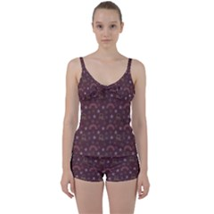 Music Stars Brown Tie Front Two Piece Tankini