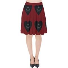 Cupcake Blood Red Black Velvet High Waist Skirt