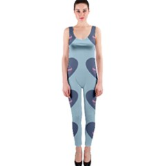 Cupcake Heart Teal Blue Onepiece Catsuit