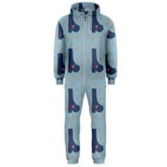 Deer Boots Teal Blue Hooded Jumpsuit (men)