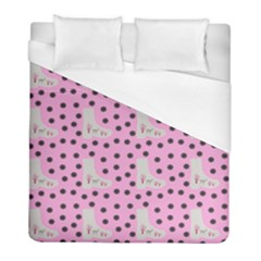 Deer Boots Pink Grey Duvet Cover (full/ Double Size)