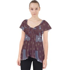 Deer Boots Brown Lace Front Dolly Top