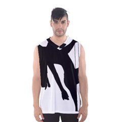 Pole Dancer Silhouette Men s Basketball Tank Top