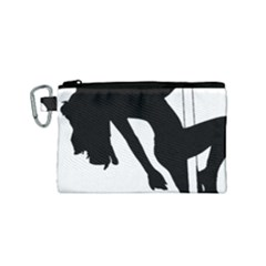 Pole Dancer Silhouette Canvas Cosmetic Bag (small)