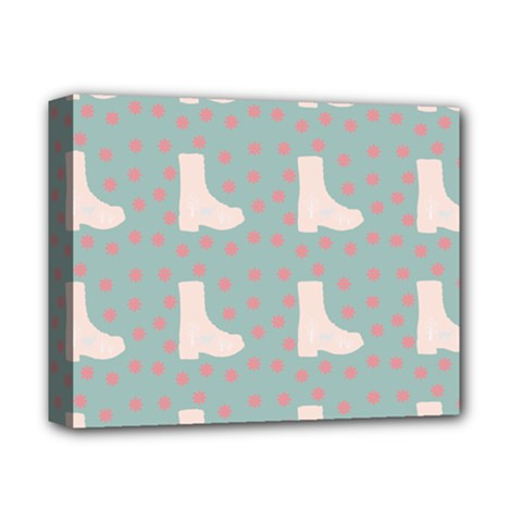 Deer Boots Blue White Deluxe Canvas 14  X 11