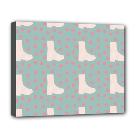 Deer Boots Blue White Deluxe Canvas 20  X 16