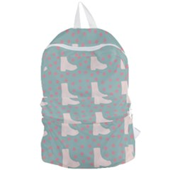 Deer Boots Blue White Foldable Lightweight Backpack