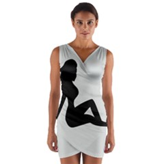 Girls Of Fitness Wrap Front Bodycon Dress