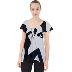 Girls Of Fitness Lace Front Dolly Top