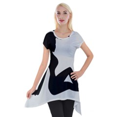 Girls Of Fitness Short Sleeve Side Drop Tunic