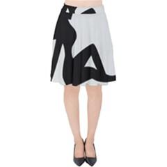 Girls Of Fitness Velvet High Waist Skirt