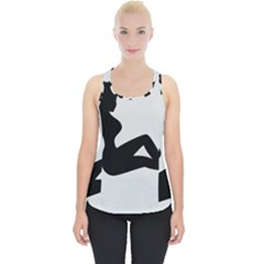 Girls Of Fitness Piece Up Tank Top