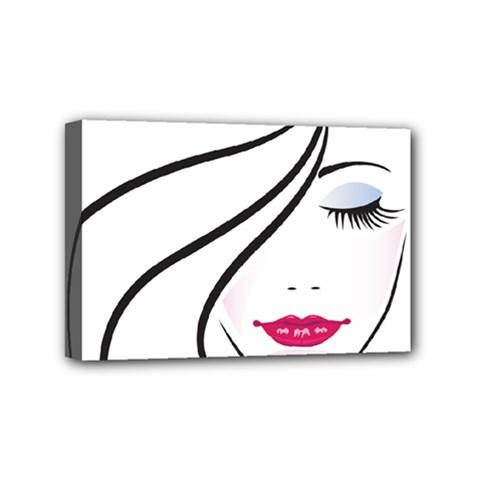 Makeup Face Girl Sweet Mini Canvas 6  X 4