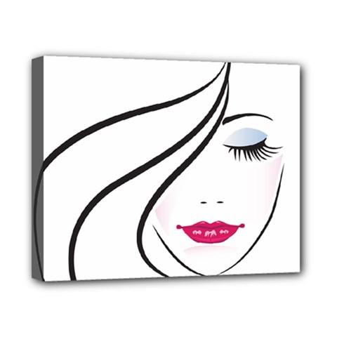 Makeup Face Girl Sweet Canvas 10  X 8