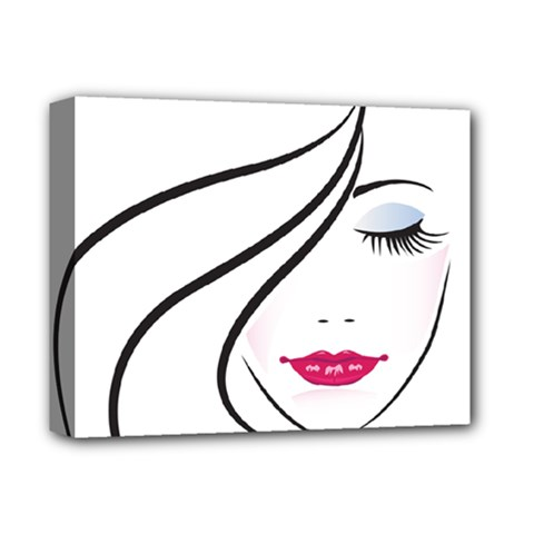 Makeup Face Girl Sweet Deluxe Canvas 14  X 11