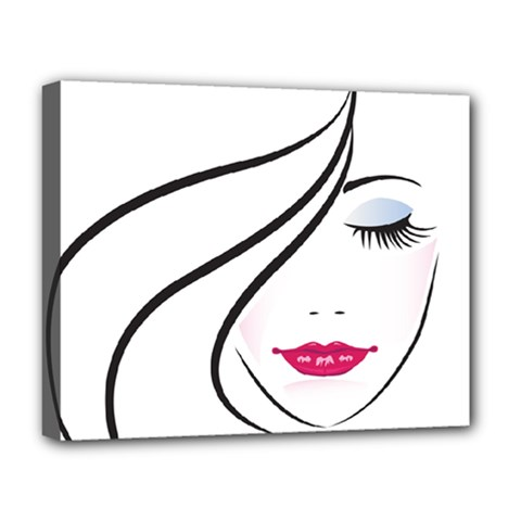 Makeup Face Girl Sweet Deluxe Canvas 20  X 16