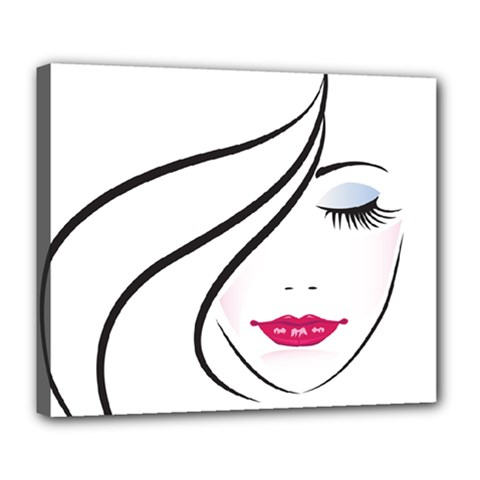 Makeup Face Girl Sweet Deluxe Canvas 24  X 20