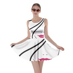Makeup Face Girl Sweet Skater Dress
